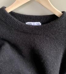ZARA oversized fekete kötött pulcsi