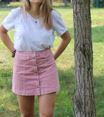 világos rózsaszín kord szoknya