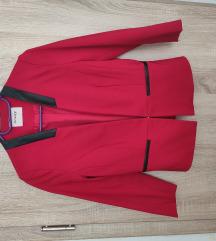 Orsay piros bőrbetétes blézer 34/36 ÚJ