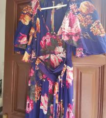 ASOS plisszírozott virágos maxi ruha