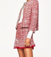 Zara tweed szoknya