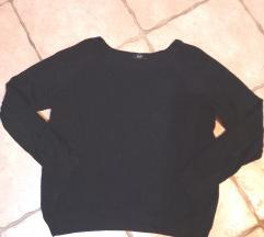 bordázott csinos fekete pulóver