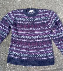Lila mintás pulóver