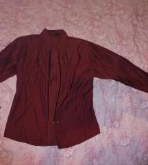 Selyemszerű bordó ing/felső