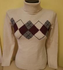 Fehér garbó/ pulóver