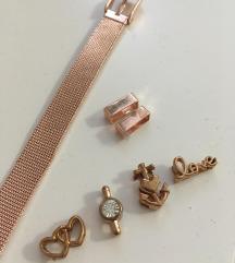 Rosegold karkötő charmokkal