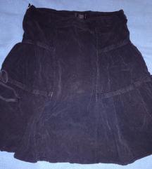 Fekete kordbársony masnis szoknya