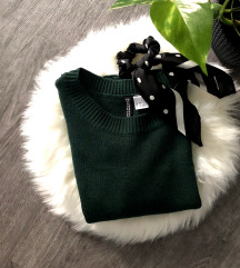 H&M Sötétzöld pulcsi - Ingyenes Szállítással