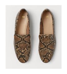 H&M kígyó mintás balerina cipő
