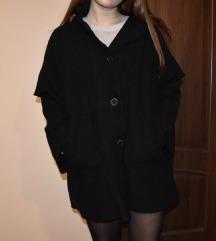 oversize gyapjú fekete egyedi kabát