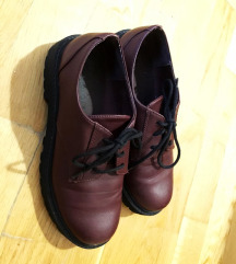 H&M bordó platform oxford cipő