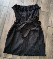 Fekete pánt nélküli ruha
