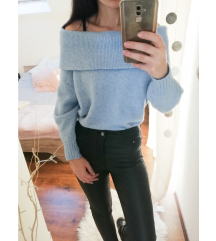 H&M nyitott vállú pulóver