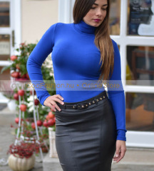 Kék garbós pulcsi S/M méret