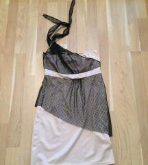 Fekete rózsaszín mályva alkalmi ruha