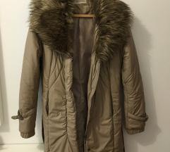 Barna hosszú téli kabát