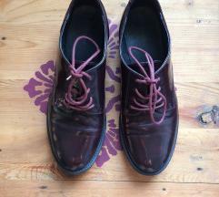 Bordó lakk oxford cipő 39