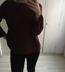 Nagyon meleg bordó pulcsi