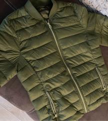 Új keki zöld átmeneti őszi dzseki kabát S-M