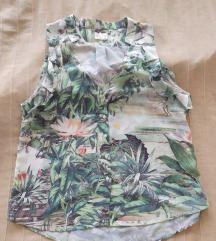 H&M trópusi mintás blúz