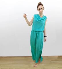 Zöld alkalmi maxi ruha