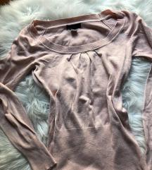 Kötött világos rózsaszín pulcsi