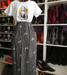 Vintage fekete-fehér szoknya
