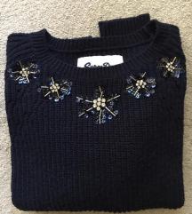 Superdry sötétkék kötött női pulóver