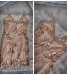 Gyönyörű rosegold alkalmi ruha