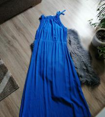 Kék színű maxi ruha