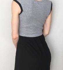 Szürke-fekete csinos Bershka ruha