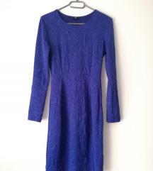 H&M hosszúujjú királykék ruha