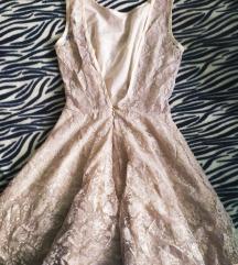 Bézs csipke ruha