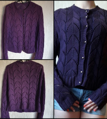 • Horgolt lila pulóver •