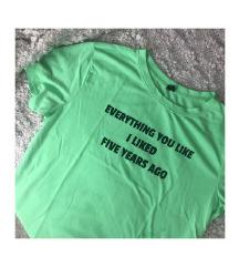 SINSAY neon zöld póló