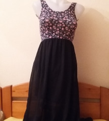 H&M Divided fekete áttetsző ruha, 36-os