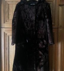 Női divatos barna panofix bunda M-es