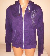 Lila női strasszos pulóver XL-es