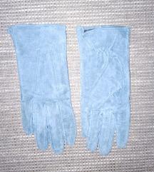 S-es kék 100% bőr kesztyű