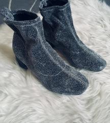 Primark ezüst zoknicsizma / socks boots
