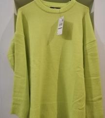 ÚJ címkés MANGO basics bordázott pulóver M/L