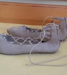 Weide homokszínű fűzős balerinacipő, 41-es