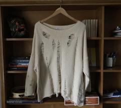 Zara szaggatott pulóver, M