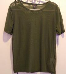 Áttetsző zöld hálós póló, strandruha
