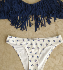 Bohókás kék fehér bikini