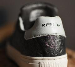 címkés ezüst/menta Replay cipő