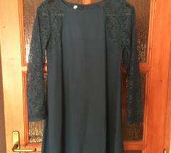 Türkiz csipkés ruha