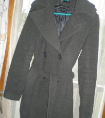 Szürke szövet elegáns kabát EXTRA AKCIÓ