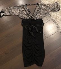 Rouge csinos fekete alkalmi ruha S