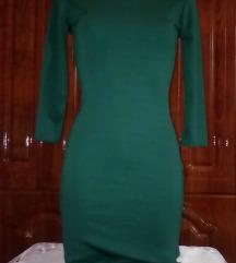 Új smaragd zöld alkalmi midi ruha